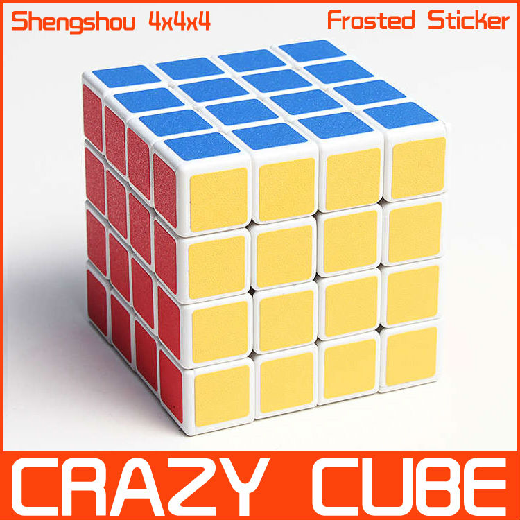 Frosted Sticker Shengshou 4x4x4 Magic Cube Puzzle 4x4 Puzzles Speed spring Cubes White Twist Toy - Crazy store