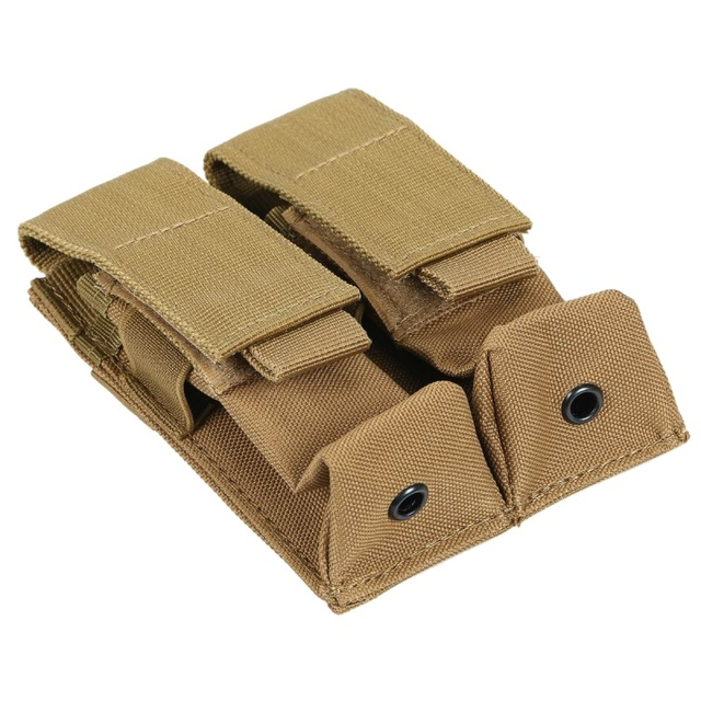 CQC Molle System Tactical Pistol Double Magazine Pouch Molle Clip 9MM Military Airsoft Mag Holder Bag Hunting Accessories 5