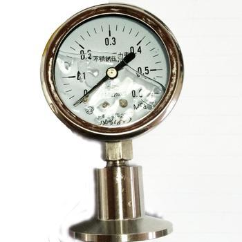 Shanghai positive pressure gauge stainless steel sanitary diaphragm pressure gauge YTP-60/MC 0-0.6MPA