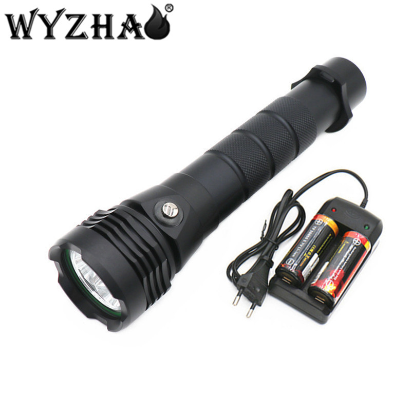 Diving light 3L2 LED Diving flashlight 13000 lumens Waterproof lamp submersible lamp underwater Swimming Torch Diving lights F 0 50m professional diving light 5000 lumens high power diving flashlight 3 led flashlight waterproof diving torch