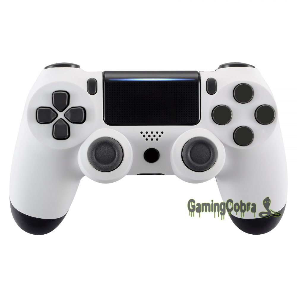 White Soft Touch Faceplate Top Housing <font><b>Shell</b></font> Case for PS4 Pro PS4 Slim Controller <font><b>JDM</b></font>-040 <font><b>JDM</b></font>-050 <font><b>JDM</b></font>-<font><b>055</b></font> #SP4FX06 image
