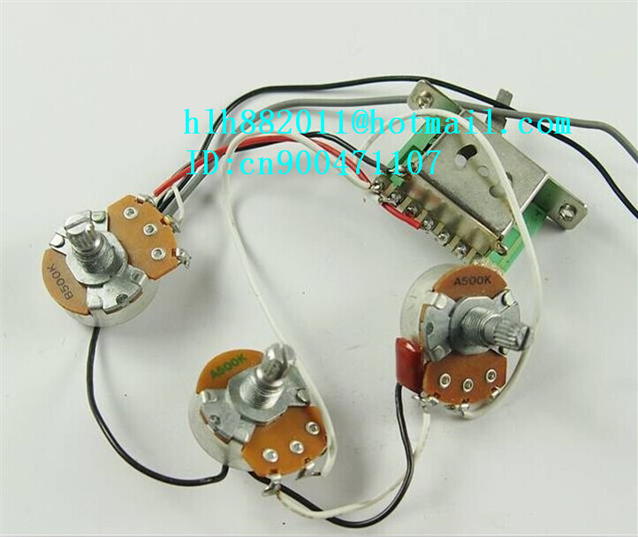 free shipping new single wave electric guitar electronic circuit with TH five gear switch  XL-8094