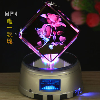 Crystal Music Box DIY Christmas Gift Birthday Send Boyfriend Or Girlfriend Lover MP4 Photo Price Quotation