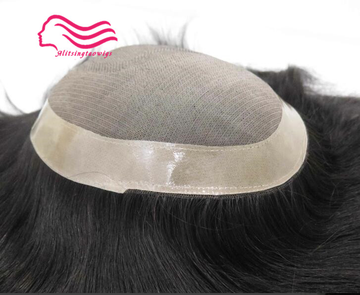 New arrival , 100% human hair Swiss lace hair replacement men toupee free shipping