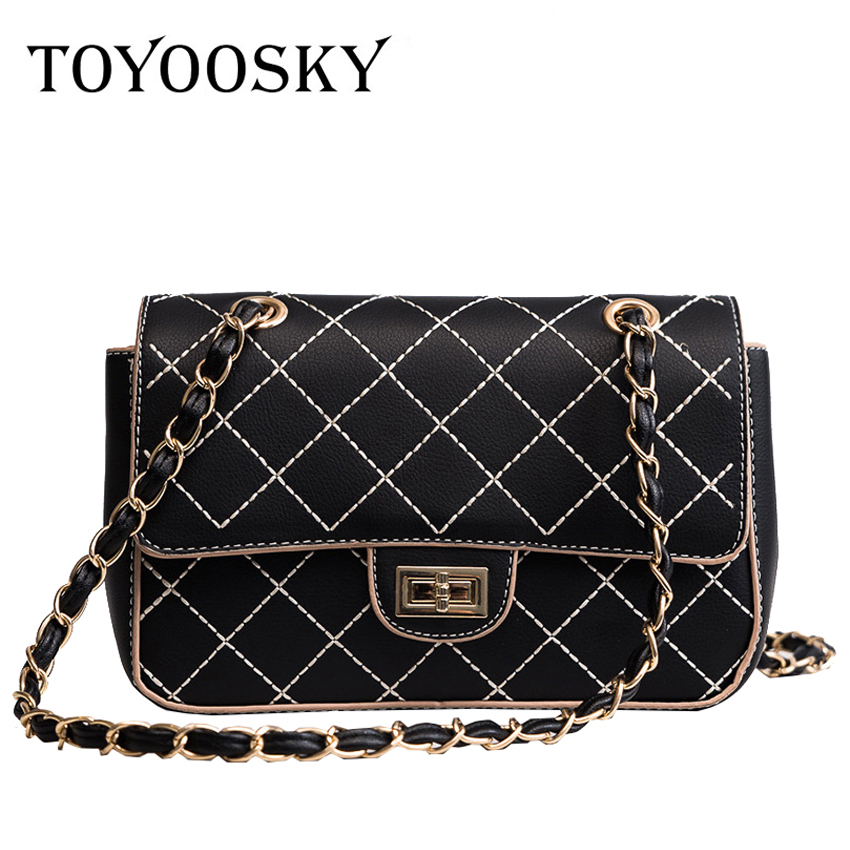 0f77bc66c796 TOYOOSKY 2018 spring new design white black shoulder bag chain diamond  lattice flap bag party clutches small women handbags-in Shoulder Bags from  Luggage ...