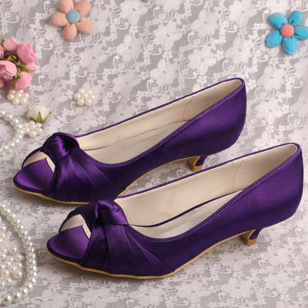 purple wedding shoes low heel 20 colors wedopus custom handmade bridal low heel shoes 6925