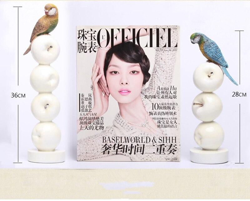 Chaud! Perroquet moderne Style européen jardin oiseau ornement Pop Art résine artisanat pomme Figurine Statue meilleur cadeau, livraison gratuite - 2