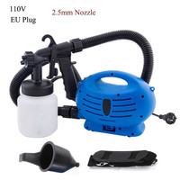 Electric Spray Gun With Air Compressor Three Spray Patterns Paint Sprayer For Coating Furniture Wall Auto Woodworking Airbrush
