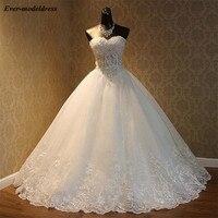 vestido de noiva princesa 2019 Sweetheart Ball Gowns Wedding Dresses Appliques Beaded Princess Bridal Gowns Plus Size novia