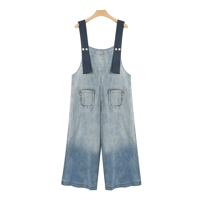 Women Denim Overalls Summer and Spring 2017 New Korean Style Loose Ankle-length Wide Leg Pants Cotton for Women Jeans