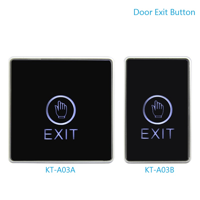 Door Touch Infrared Induction Exit Button Plexiglass Panel  Dual LED Indicator Light Door Access Control Exit Switch