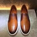 TERSE_Engraving Итальянской коровьей ручной работы мокасины мужчины роскошные повседневная обувь настроить логотип синий/бордовый/orange на складе OEM ODM