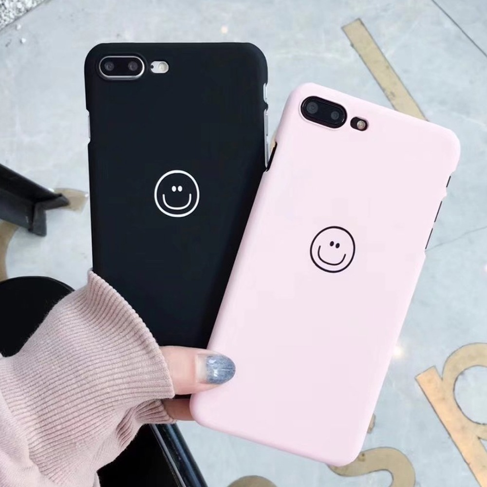 Clear Smiley Faces Emoticon Emoji Capinhas Iphone 6 6S 7 8 X Plus Hard PC Plastic Cover Expression Accessories