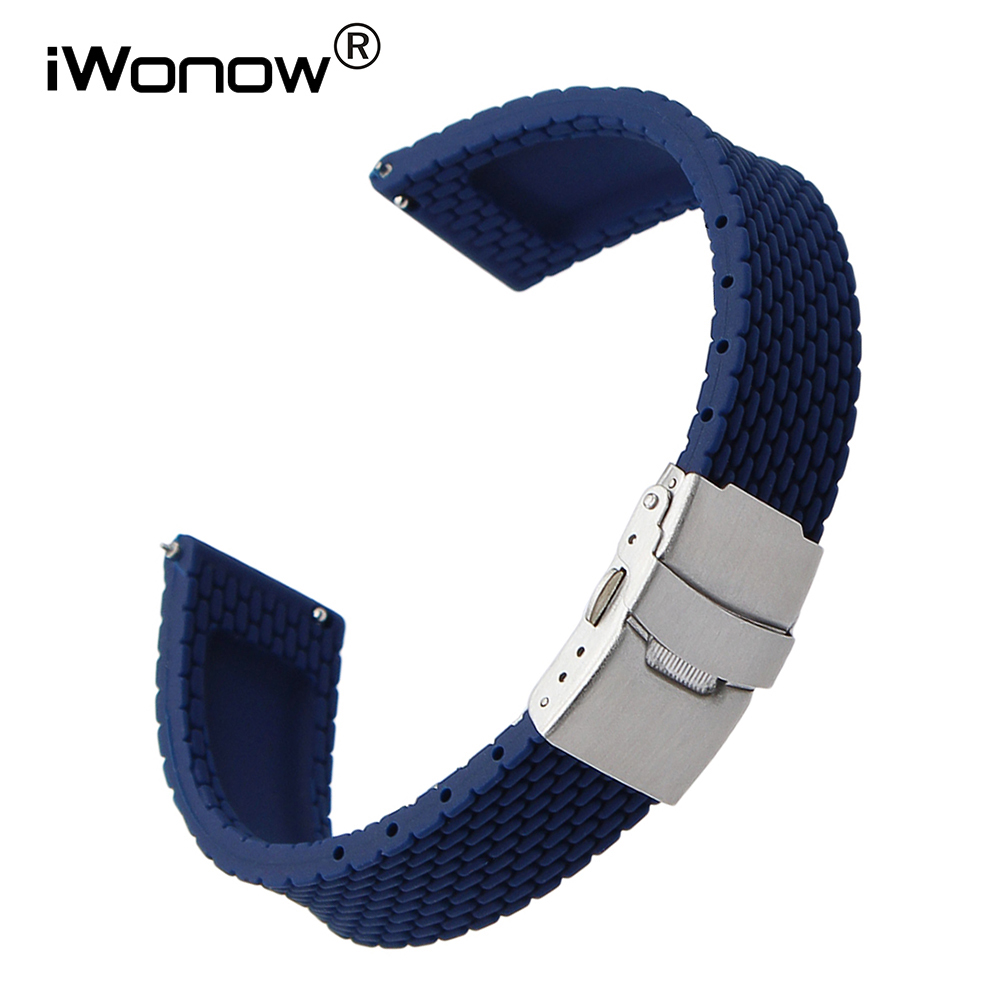 Quick Release Silicone Rubber Watch Band for <font><b>Breitling</b></font> IWC Panerai Watchband Wrist <font><b>Strap</b></font> 17mm 18mm 19mm 20mm 21mm 22mm 23mm <font><b>24mm</b></font> image