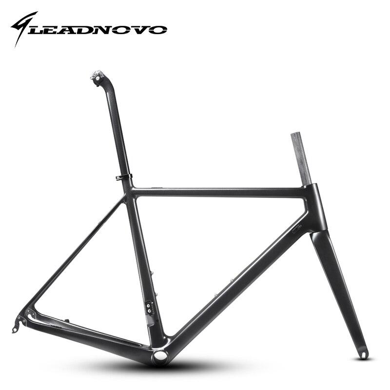 LEADNOVO Carbon Road Bike Frame 3k Glossy Matte Light Bicycle Frameset XS S M L XL