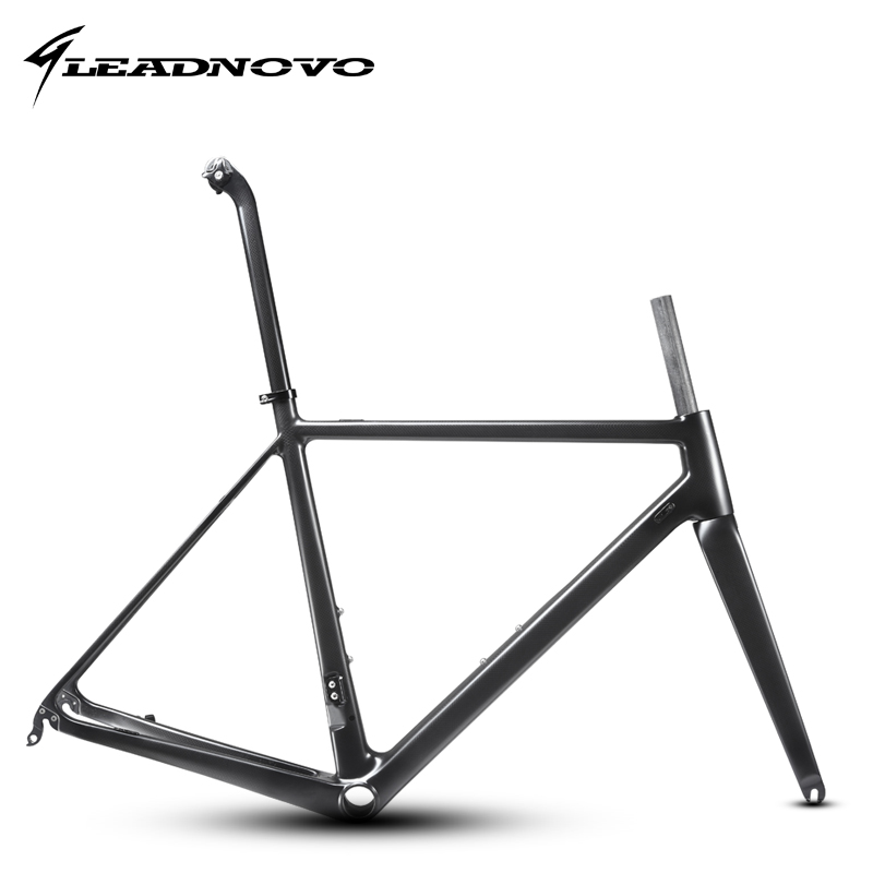 2017 light Carbon Road Frame full carbon fiber road bike race 60cm frame bicycle frameset accept customized painting LEADNOVO цена в Москве и Питере