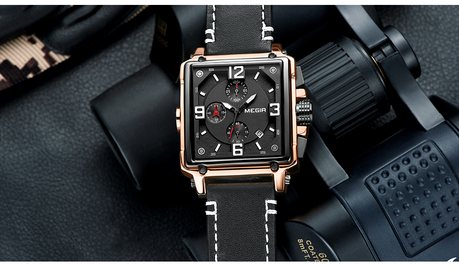 HTB1JmvITrvpK1RjSZPiq6zmwXXat MEGIR Creative Men Watch Top Brand Luxury Chronograph Quartz Watches Clock Men Leather Sport Army Military Wrist Watches Saat