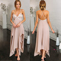 Women Dress Pink Sleeveless Sexy Dress Sequins Splicing Condole Irregular Dress for Women V Neck Backless Party Club Dress