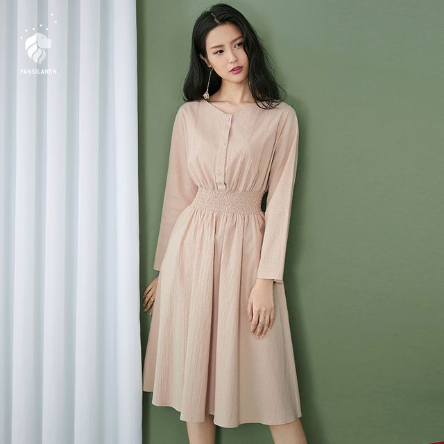 FANSILANEN 2019 Fashion Summer/Spring Dress Casual Long Club Dresses Women Party Office Beach Chiffon Female Plus Size Z80223