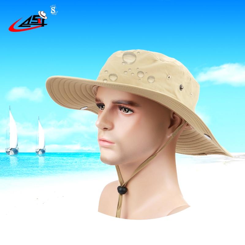 2018 Fisherman Hats womens wide brim hat Waterproof Brand Cowboy Hat for  men Outdoors Bucket Hat Panama Male Caps Bob-in Bucket Hats from Apparel ... 7207c966cd6