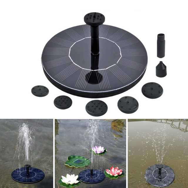 Floating Solar Water Fountain For Garden Water Pump Pool Pond Watering Outdoor  Solar Panel Pump Kit