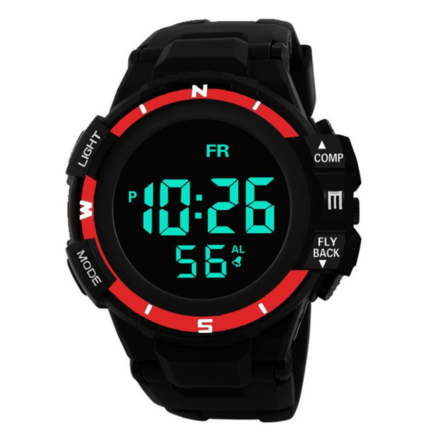 Luxury Brand Mens Sports Watches Night Light Digital LED Military Watch Men Fashion Casual Electronics Wristwatches Hot Clock #CLuxury Brand Mens Sports Watches Night Light Digital LED Military Watch Men Fashion Casual Electronics Wristwatches Hot Clock #C