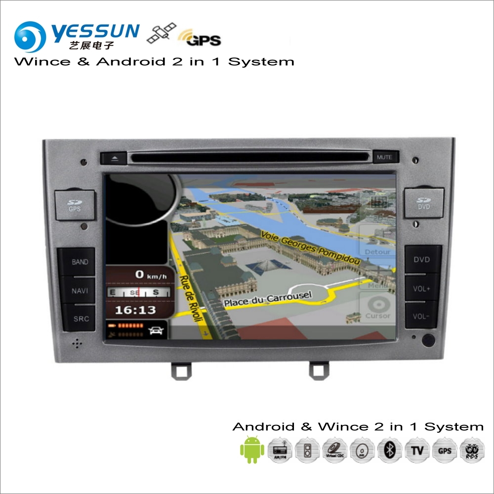 YESSUN For Peugeot RCZ / 308 / 408 2009~2015 - Car Android Multimedia Radio CD DVD Player GPS Map Navigation Audio Video Stereo цена 2017