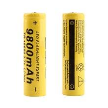 8PCS /LOT  TBUOTZO 18650 9800mah electronic cigarette Rechargeable battery for Flashlight Torch Headlight Head Free Shipping