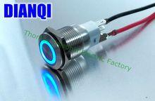 Бесплатная доставка 16 мм водонепроницаемый металлический кнопочный никелированной латуни круглые на плоской подошве переключатель Прессы мгновенный 1NO1NC DIY 16HX, F. КБ