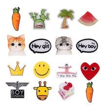 Japan Harajuku Cute Cat Cactus Crown Acrylic Brooch Pin Animal Boy Unisex Backpack Accessory Carrot Fashion Jewelry