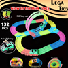 Glow Race Track Flexible Assembly Track Spinning 360 Stunt Loop Colorful Bright Flash In The Dark