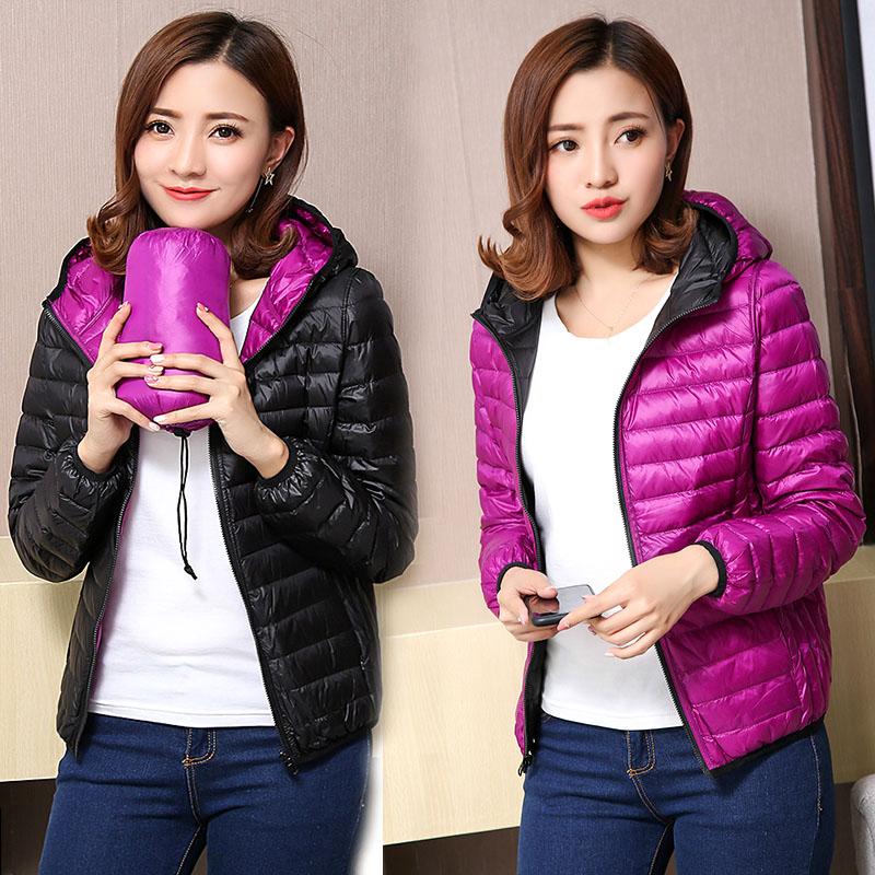 Women's Jackets Ultra Light   Down   Jacket Women 2019 New Autumn Winter   Coat   Jackets For Women Two Side female jacket