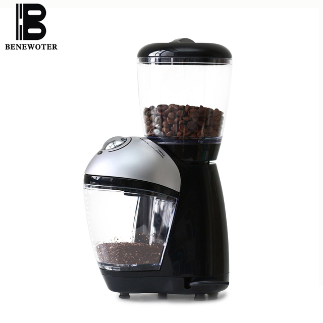 220v Electric Coffee Beans Grinding Machine E Grinder Maker Stainless Steel Blades Mill Herbs Cafe