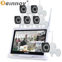 EINNOV 8 Channel Wireless 12 LCD Screen NVR Kit P2P 5pcs 6pcs 1080P HD Outdoor IR