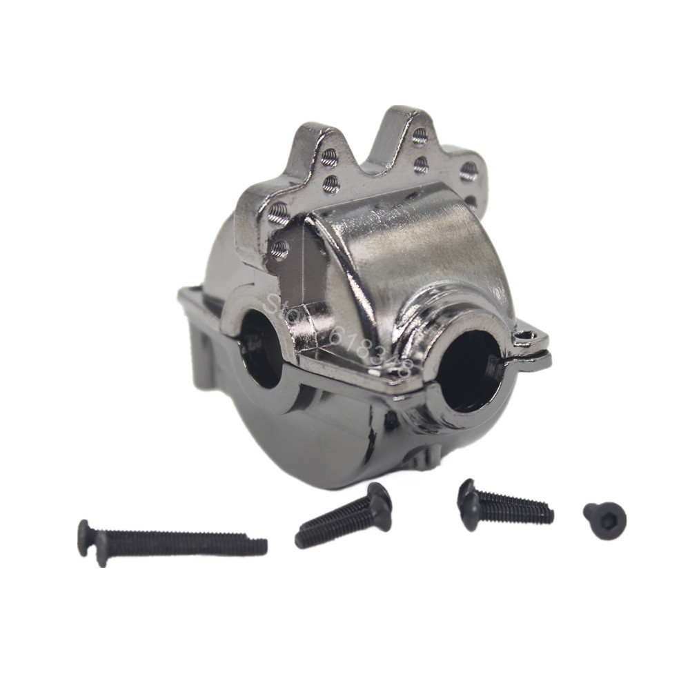 For RC WLtoys A949 Aluminum Differential Housing Hydraulic Transmission Gear Box A949-12 1/18 Rally Car Metal Parts wltoys 12428 12423 1 12 rc car spare parts front diff gear complete differential gear complete 0091