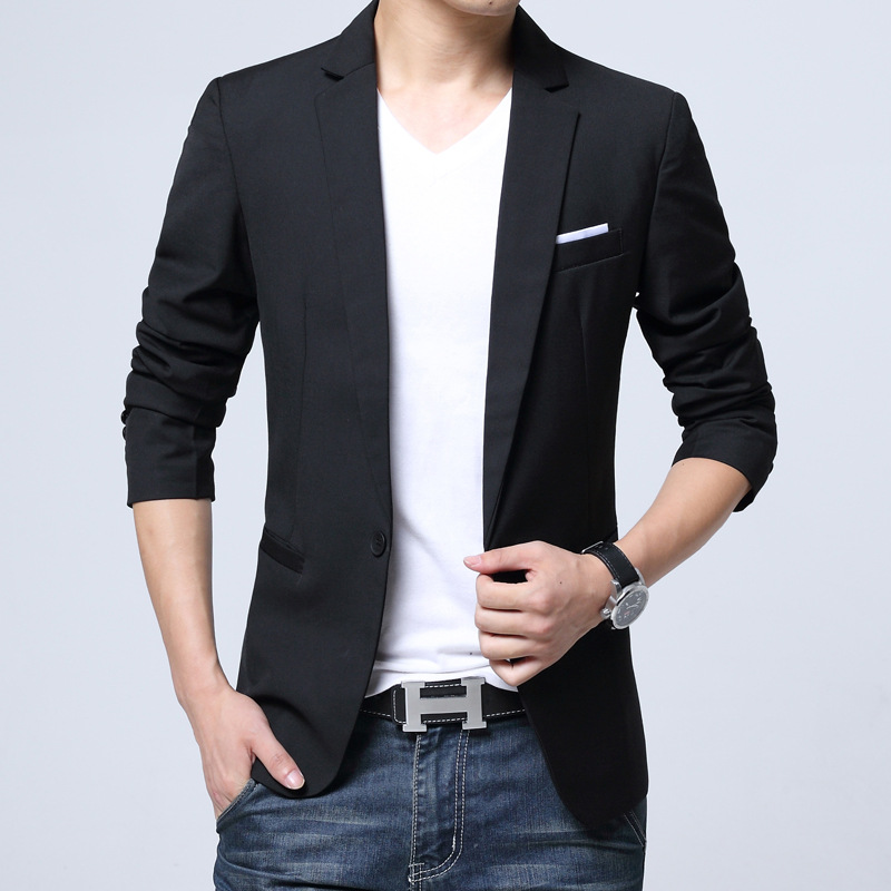 Spring and Autumn New Small Suit Mens Korean Slim Suit Mens Edition Youth Large Size Jackets Business Trend Mens Clothing