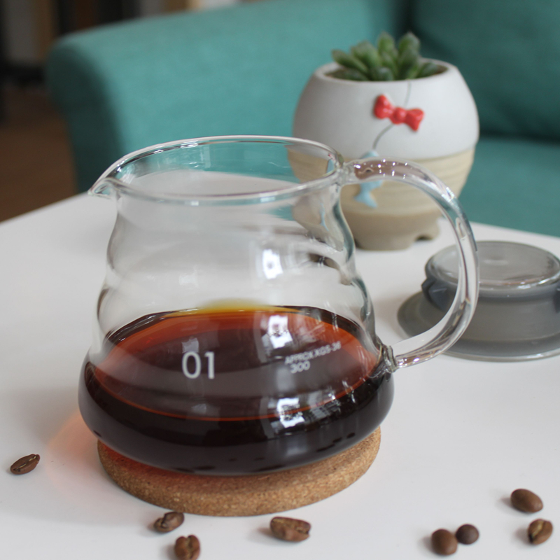 360ml glass hand drip coffee server,glass coffee pot coffee kettle for coffee maker-in Coffee ...