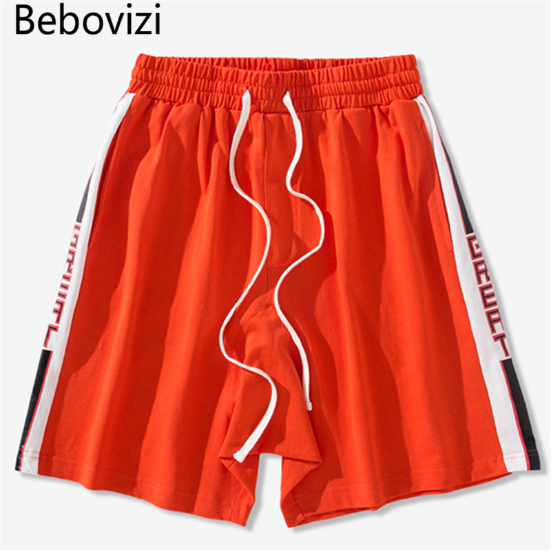Bebovizi Brand 2018 Summer Cotton Street Stripe Sweatpants Hip Hop Mens Casual Shorts Skateboard Joggers Fashion Shorts Homme