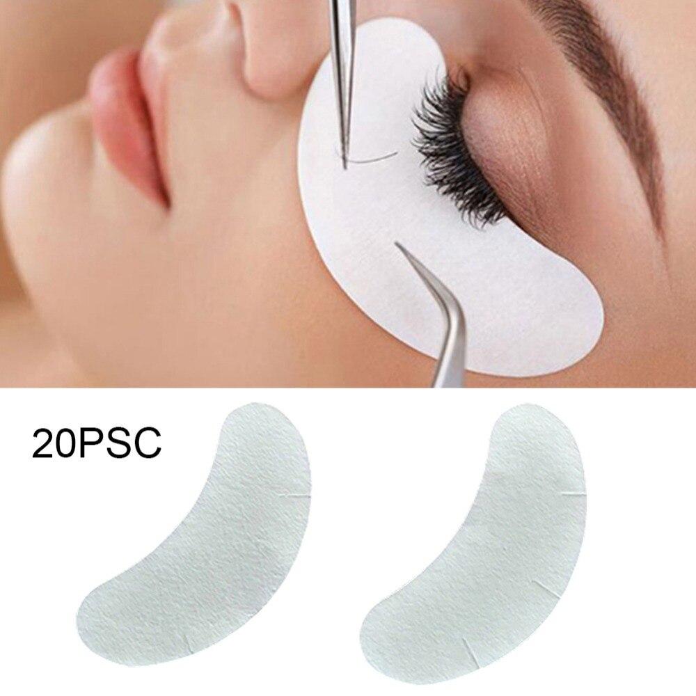 20pcs Under Eye Pads Paper Patches Grafting Tools Eyelash Extension Eye Lash Make Up Tools Eye Tips Sticker Wraps False Eyelashes