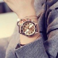2019 למעלה יוקרה גברים שעונים נשים אופנה שישה פינים גדול חיוג מקרית שעוני יד חדש קריסטל שמלת שעון נשי עלה זהב שעון