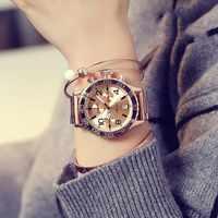 2019 Top Luxury Men Watches Women Fashion Six-pin Big Dial Casual Wristwatches New Crystal Dress Watch Female Rose Gold Watch