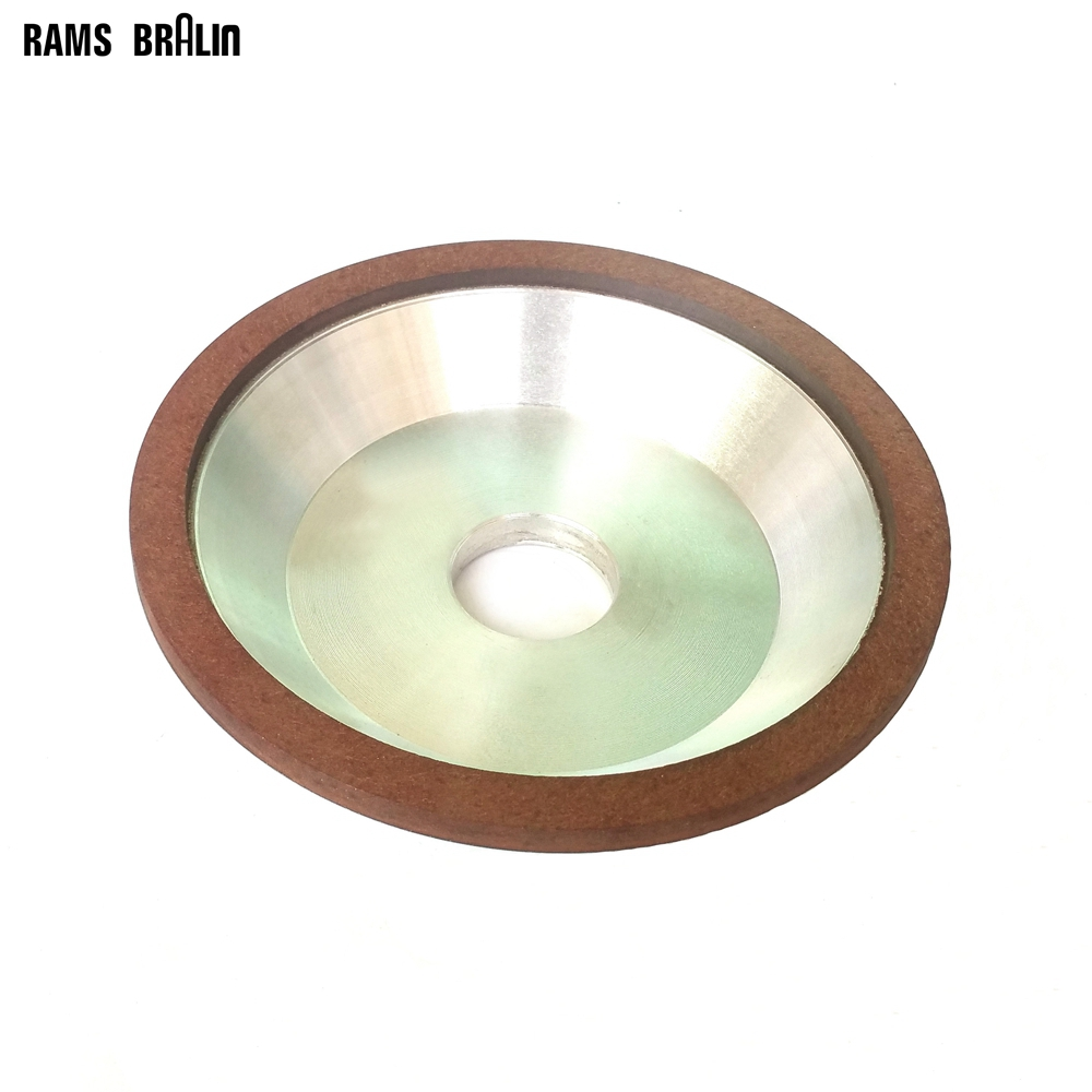 Dia. 6 in. Bowl-Shaped Resin Diamond Abrasive Wheel Tungsten Steel Alloy Knife Grinding