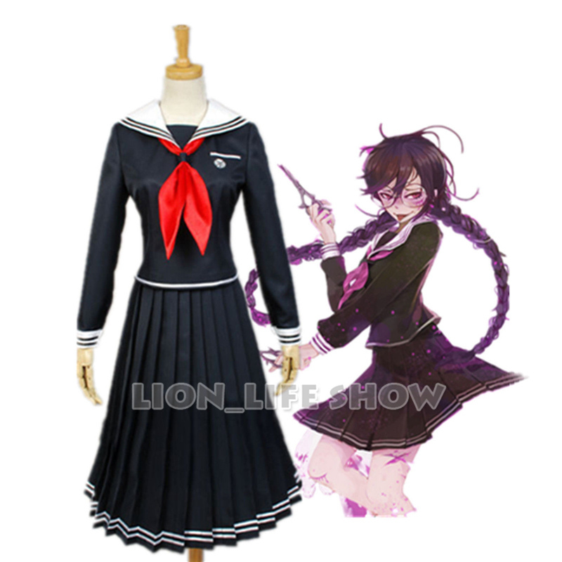 Danganronpa Dangan-Ronpa 2 Fukawa Toko Cosplay Costume School Uniform Costume