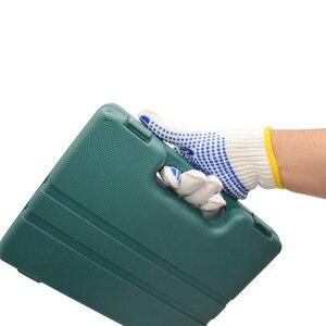 Image 4 - Labor 700 grams of plastic yarn gloves point glue glove cotton antiskid point bead gloves