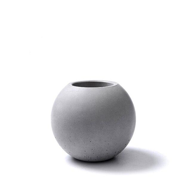 Silikon kalıp beton vazo çimento tencere ev dekorasyon topu şekli beton Pot kalıpları beton kalıp çimento 3d vazo silika jel