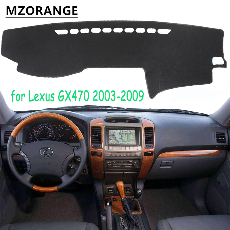 For Lexus GX470 Dashboard Cover Sun Shade Cover 2003-2009 Dash Mat Dashmat Cover For Toyota Land Cruiser Prado J120 2003-2009
