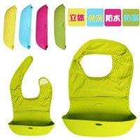 2015 Waterproof Baby Bib Silicone Slabber Dribble Plastic Bibs For Babies Feeding Boy Scarf Children Infant