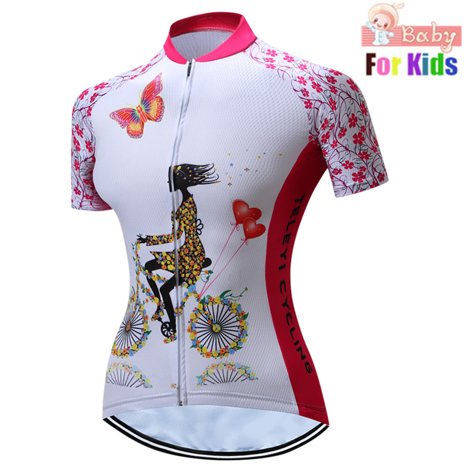 Cycling Clothing Bicycle-Jerseys Short-Sleeve Road-Bike Maillot-Ciclismo Children Summer