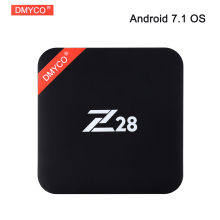DMYCO Z28 RK3328 Quad Core Android 7.1 TV Box 4 K 2 GB 16 GB 2.4G Wifi HDMI 2.0 Smart TV Media Player Miracast DLNA Septembre Top boîte