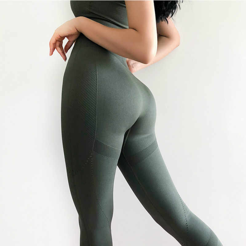041fd7cb7c10a ... Colorvalue High Flexible Seamless Sport Gym Leggings Women High Waist  Tummy Control Running Fitness Tights Jogger ...